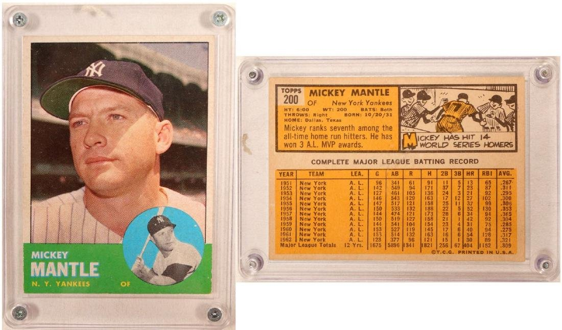 1963 Topps Mickey Mantle Card 104084