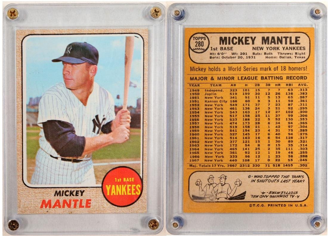1968 Topps Mickey Mantle Card 104081 May 19 2019