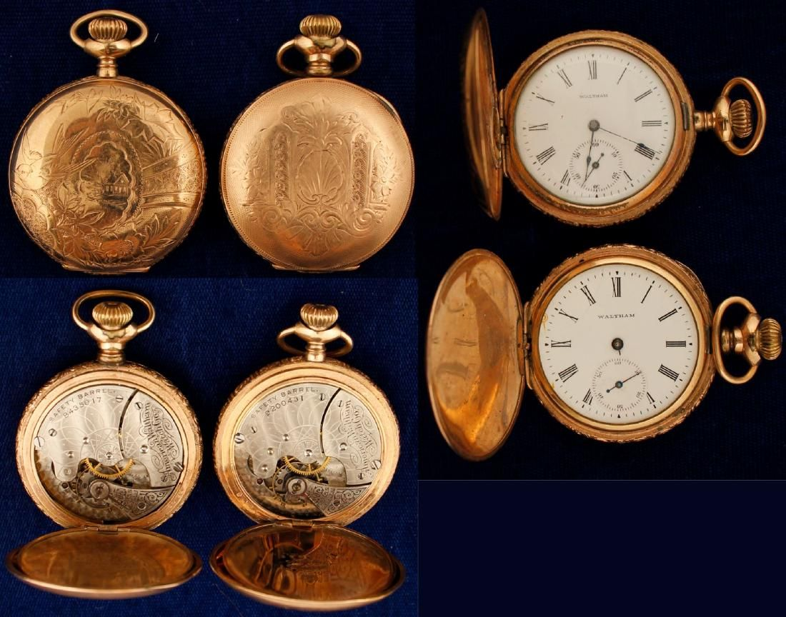 Lady's Waltham Pocket Watches hunter case (2 count)