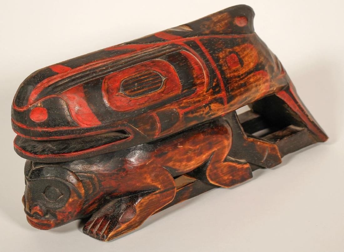 Haida Whale on Human Effigy, Vintage (91451)