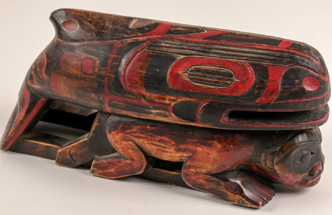 Haida Whale on Human Effigy, Vintage (91451) - 2