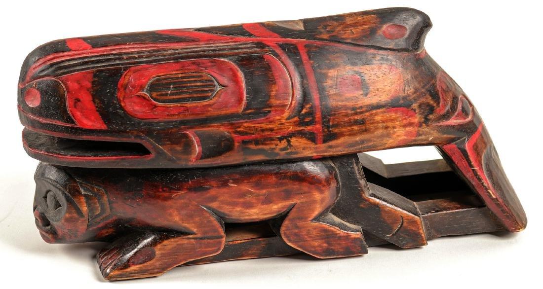 Haida Whale on Human Effigy, Vintage (91451) - 3