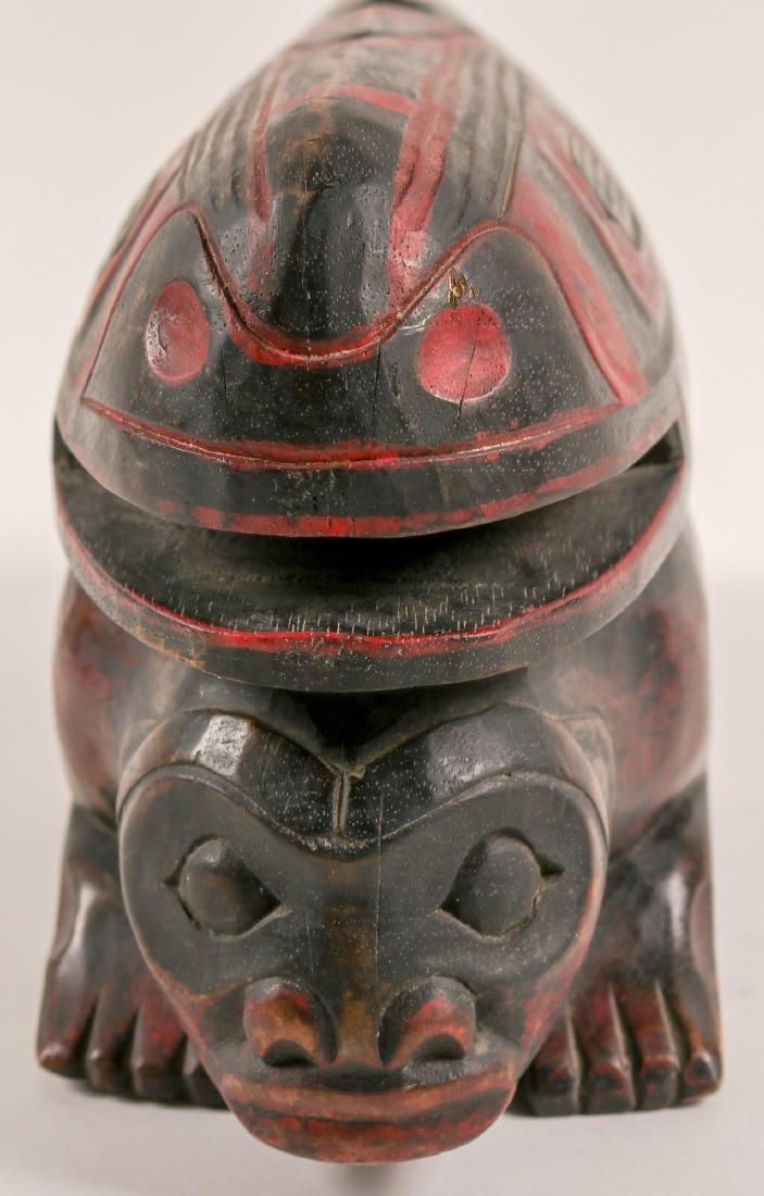 Haida Whale on Human Effigy, Vintage (91451) - 4