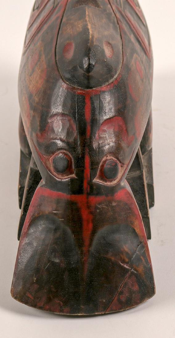 Haida Whale on Human Effigy, Vintage (91451) - 5