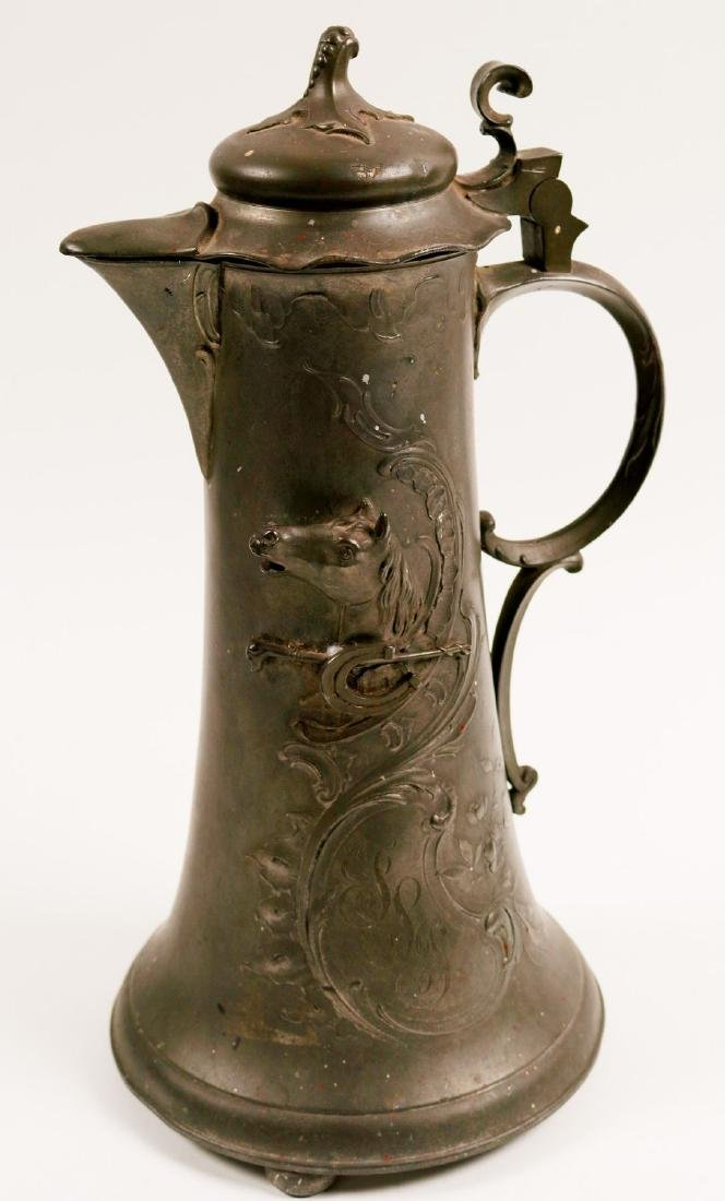 Beer Stein / Pewter / Art Nouveau (100597)