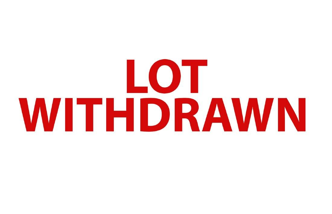 Lot Withdrawn DO NOT BID