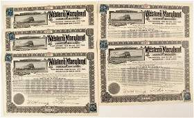 Western Maryland Railroad Company Bond Certificates