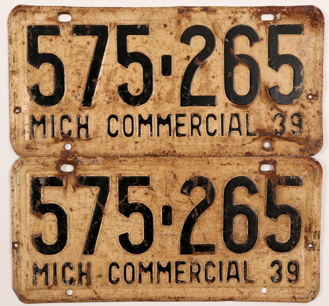 Auto License Plates / Commercial / Michigan.   (105008)