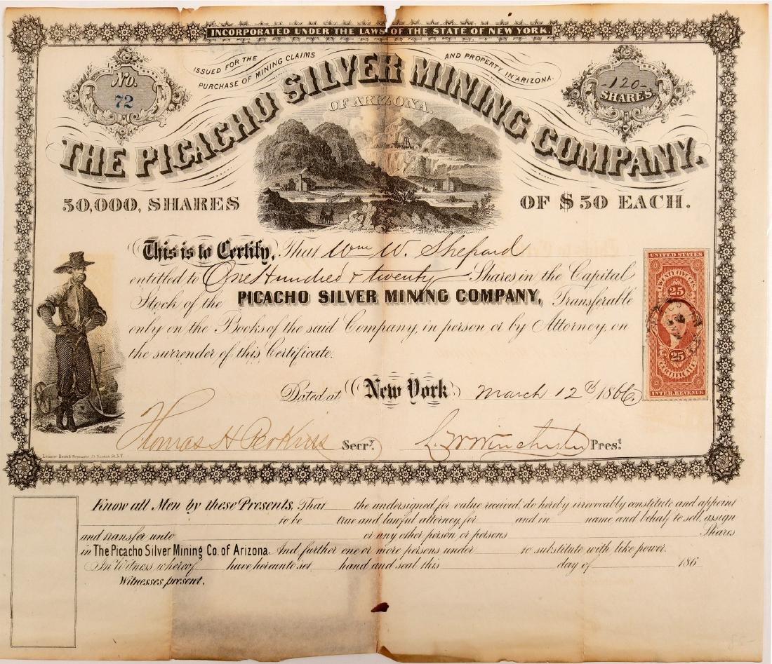 Picacho Silver Mining Company of Arizona Stock