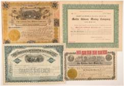 Four Different Leadville Mining Stock Certificates