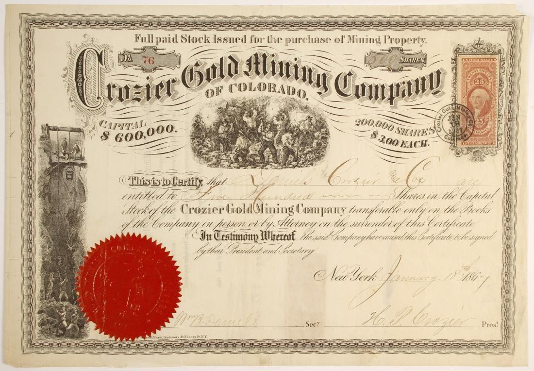 Crozier Gold Mining Company of Colorado Stock   (79740)