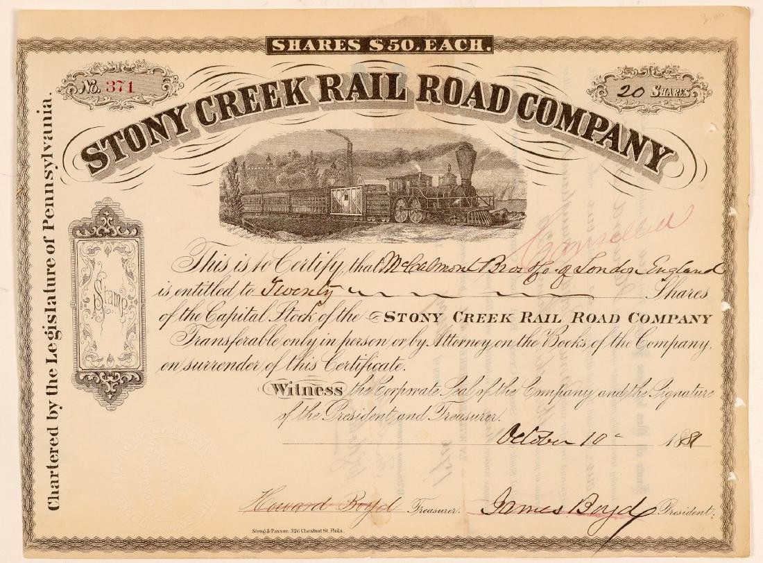 Stony Creek Rail Road Co.   (105552)