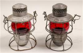 Railroad Lamps (Set of 2, Vintage) (106001)