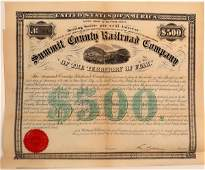 Summit County Railroad Company 500 Bond  106688
