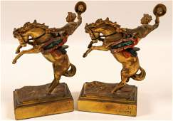 Pompeian Bronze Bookends 2  109492