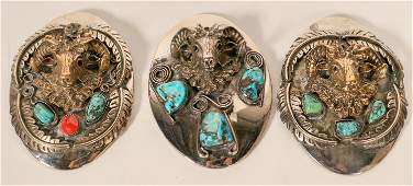 Three Vintage Navajo Bolo Pulls  109772