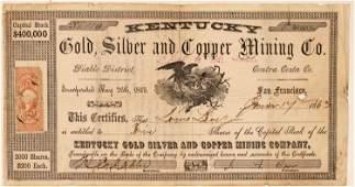 Kentucky Gold Silver  Copper Mining Co Stock