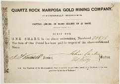 Quartz Rock Mariposa Gold Mining Company Stock  86039