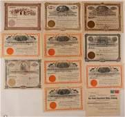 Eleven Cripple Creek Mining Stock Certificates #107696