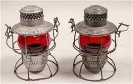 Railroad Lamps (Set of 2, Vintage) #106001