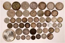 Great Britain and Territories Silver Coin Hoard