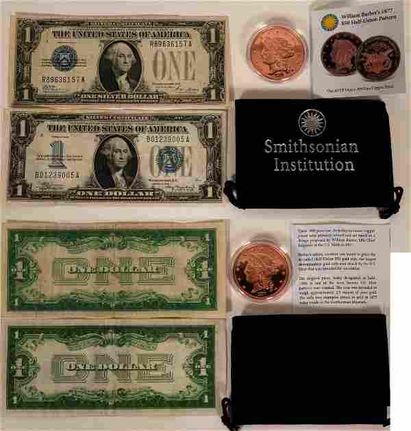 Silver Certificates and Copper $50 Half-Union Pattern