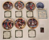Six Upper Deck Sports Collector Plates Michael Jordan