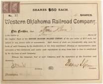 Western Oklahoma Railroad Stock #84107