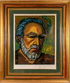 Anthony Quinn Self Portrait Zorba Serigraph Highend