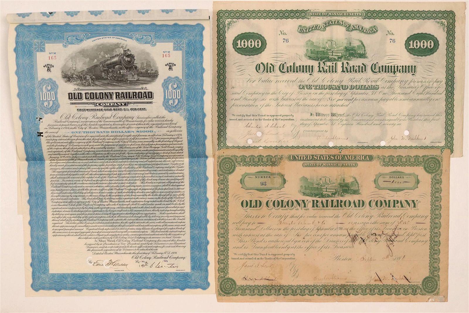 Old Colony Rail Road Co. bonds (110838)