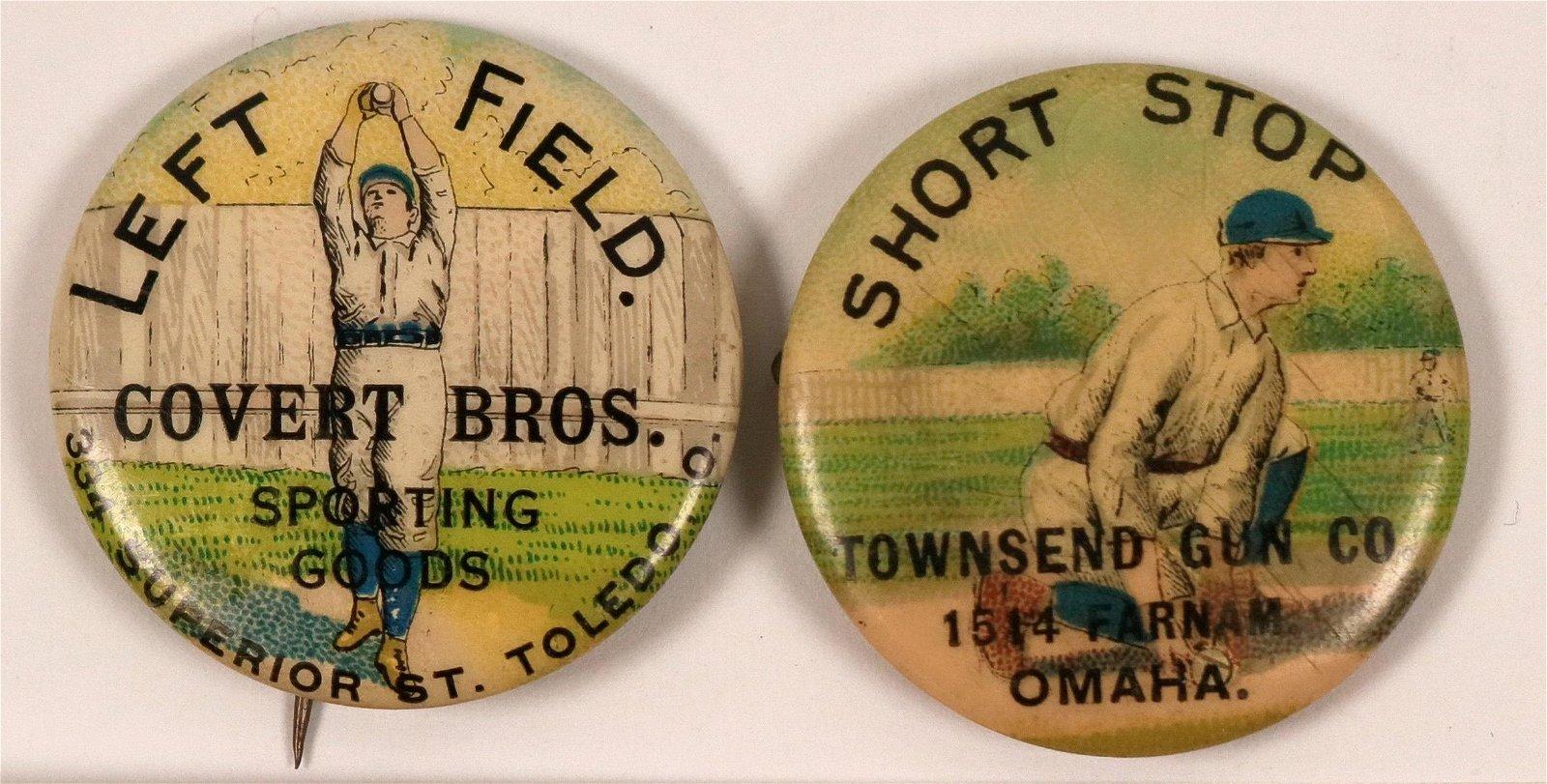 Baseball Advertising Pins  (112398)