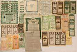 Movie Props- Gold Bonds and Financial Documents