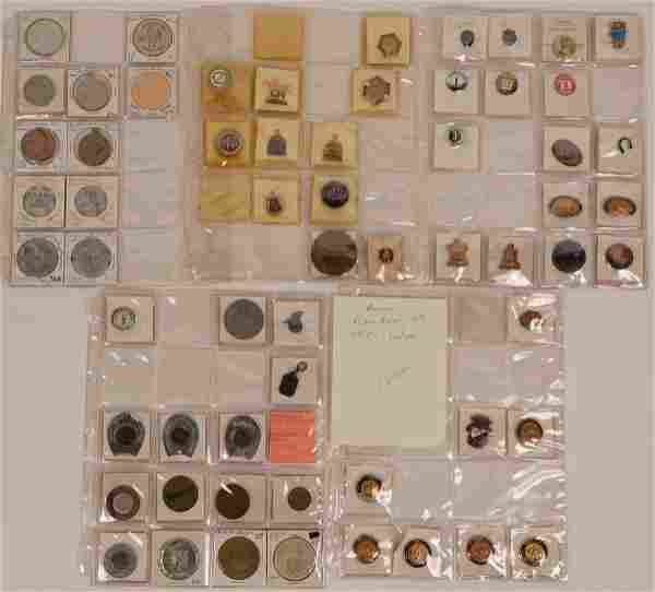 Horse Racing Button, Token and Pin Collection