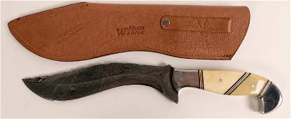 William and Son Damascus blade Gurhka knife (114436)