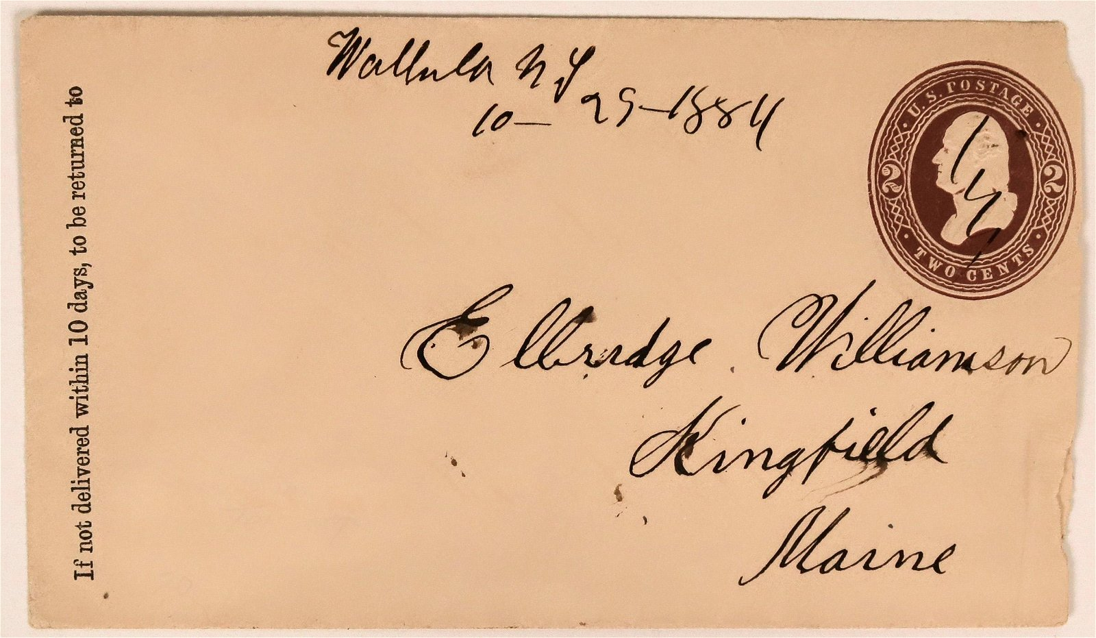 1884 Maine Cover  (116068)