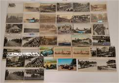 Early Auto Racing Postcard Collection (113125)