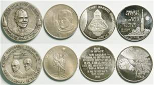 Sterling Silver Space Medals (114592)