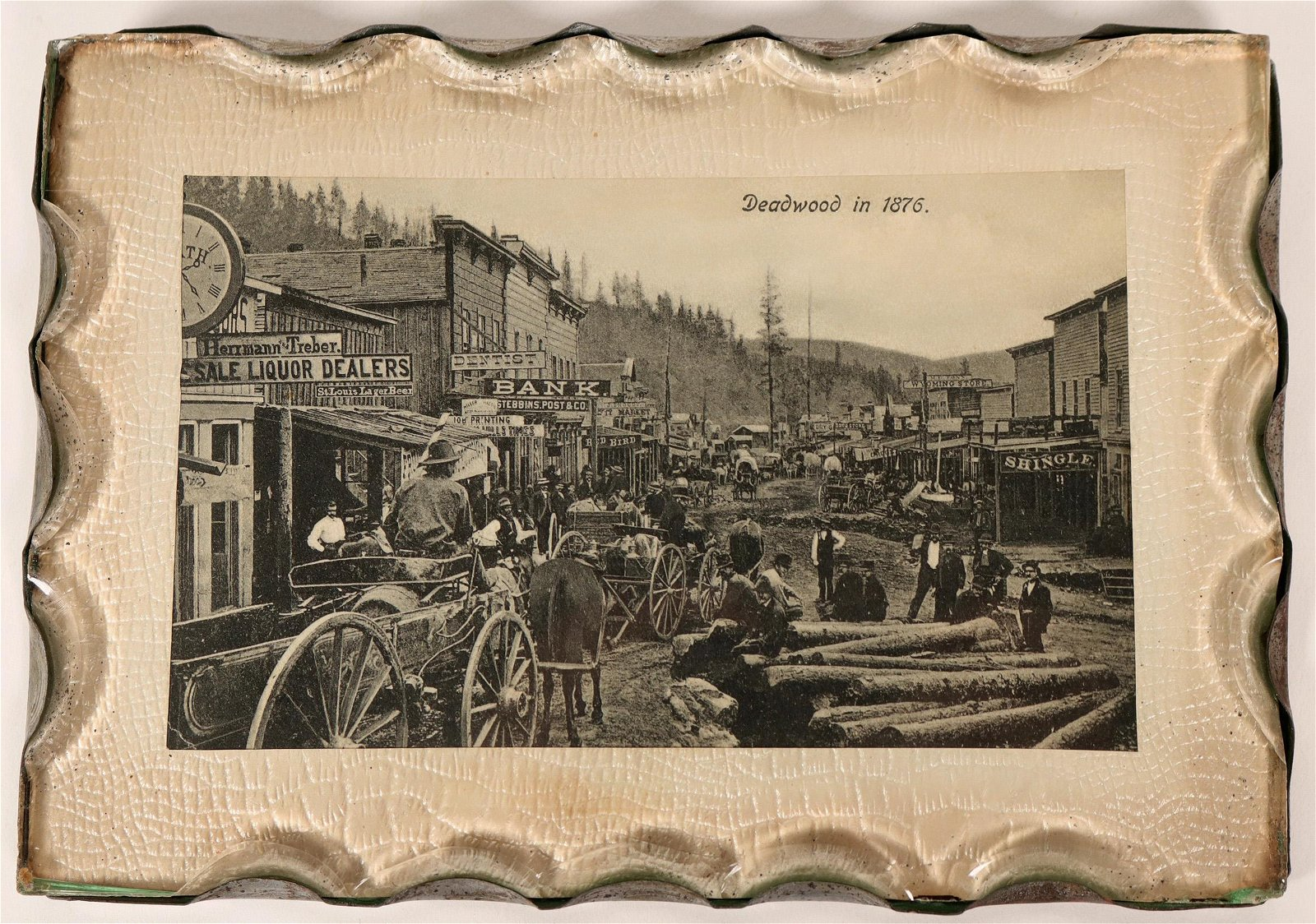 Deadwood, 1876 Scene with Chipped Glass Frame/Cover