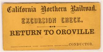California Northern Railroad Excursion Ticket  119661