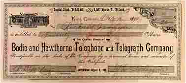 Bodie, California, Ghost Town, Telephone and Telegraph