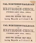 California Northern Railroad Excursion Checks  119725
