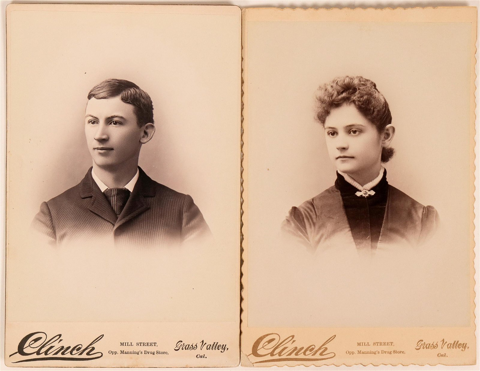 Clinch of Grass Valley Fame, Cabinet Card Pair