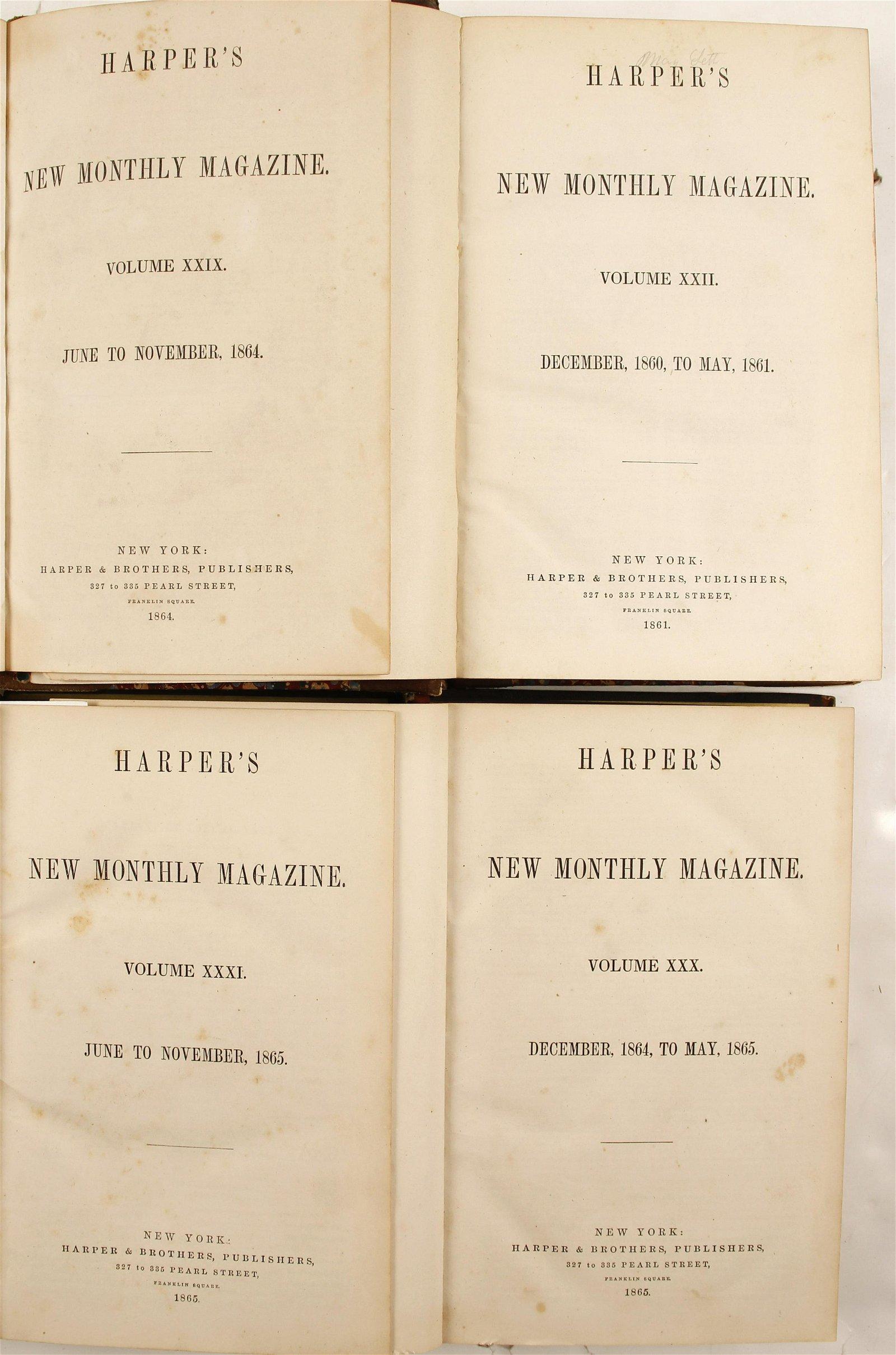 Harper's Magazine - Four Volumes on Nevada/Arizona by