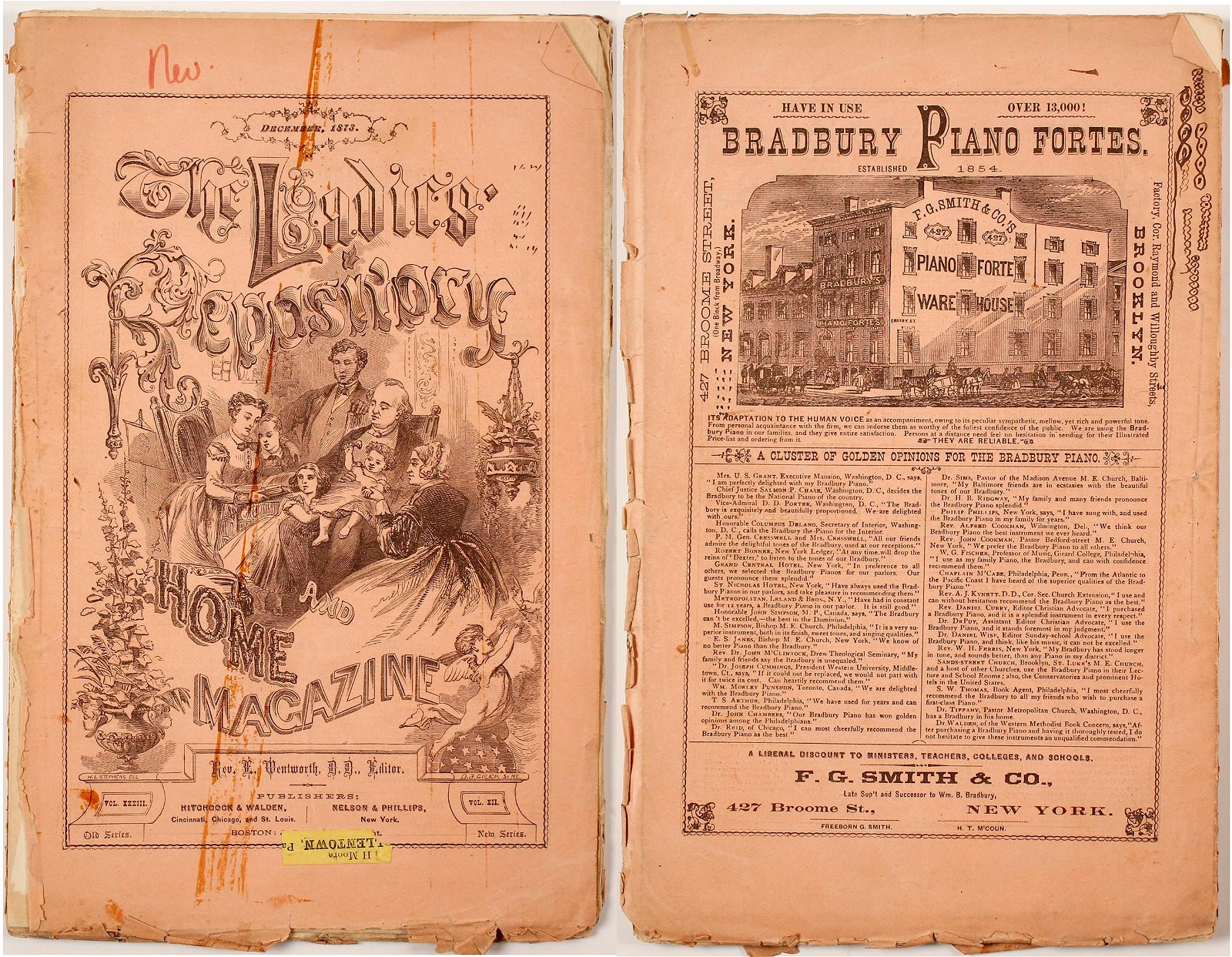 Ladies' Repository Magazine, 1873 with Article on