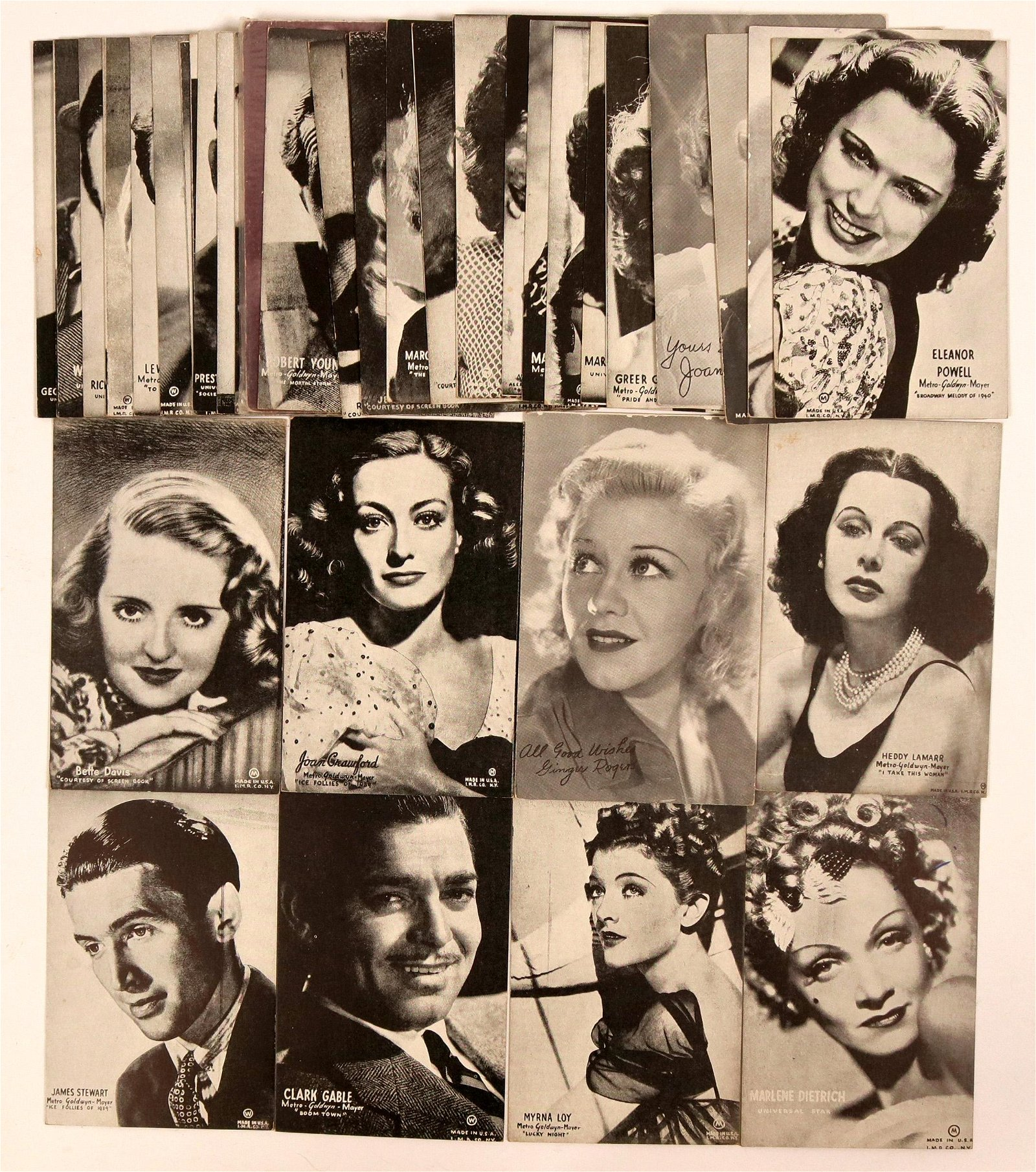 Hollywood Stars Collection of Postcards (36)  (111706)