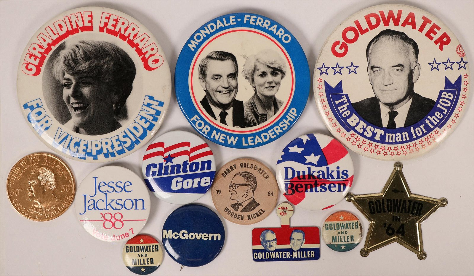Goldwater & Others Campaign Buttons  (118071)