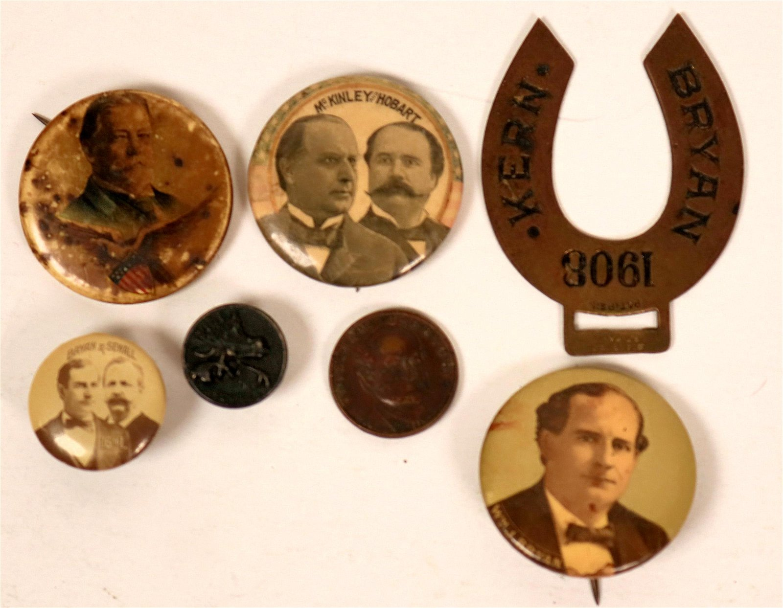 Taft & Bryan Campaign Buttons and Pin Backs  (118072)