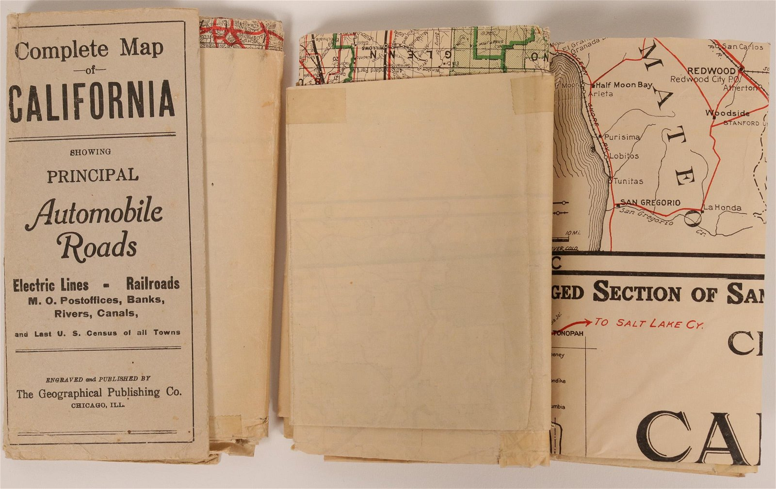 Two Pocket Maps of California  (117240)