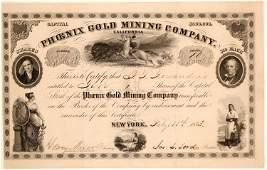 Phoenix Mining Company Stock Certificate  (102211)