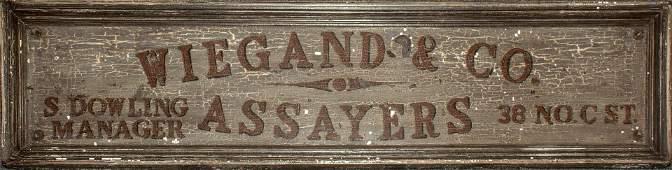 Wiegand & Company Original Sign - Iconic Comstock